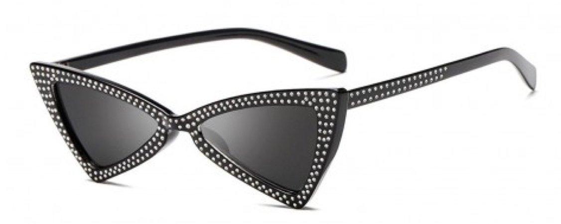 studded triangle sunglasses