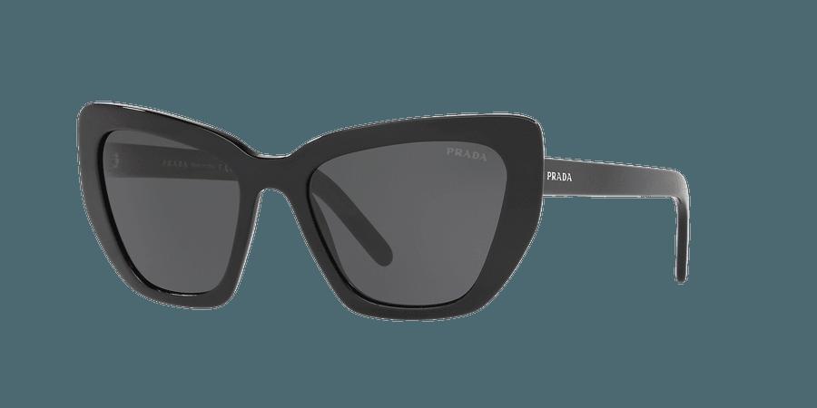 Prada PR 08VS 55 Grey-Black & Black Sunglasses | Sunglass Hut USA