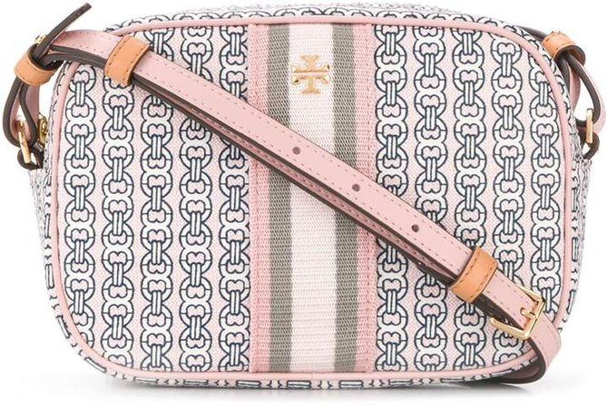 Gemini chain-print crossbody bag
