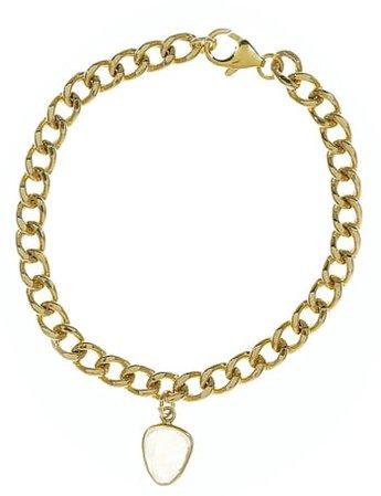 Curb Chain Moonstone Bracelet