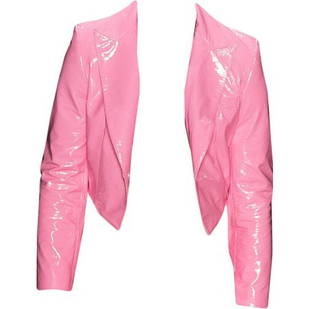 Pink Leather Blazer Jacket