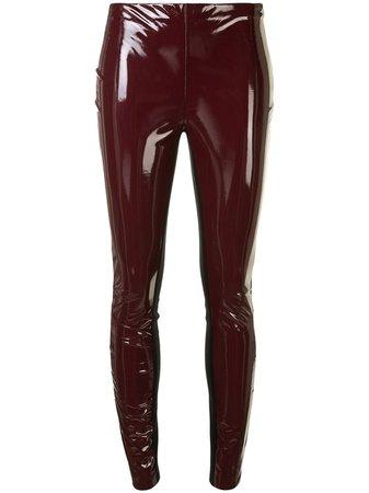 Karl Lagerfeld patent finish leggings