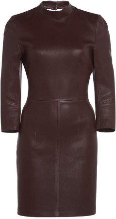 Zeynep Arcay Backless Stretch Leather Mini Dress