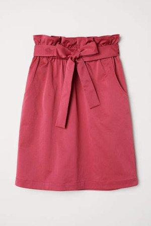 Skirt with Tie Belt - Pink