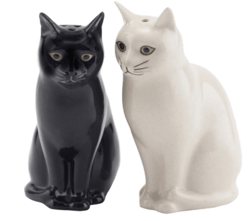 Kitsch Cat Salt + Pepper Shakers pngs