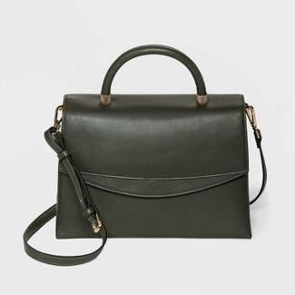 Magnetic Closure Top Handle Satchel Handbag - A New Day™ : Target