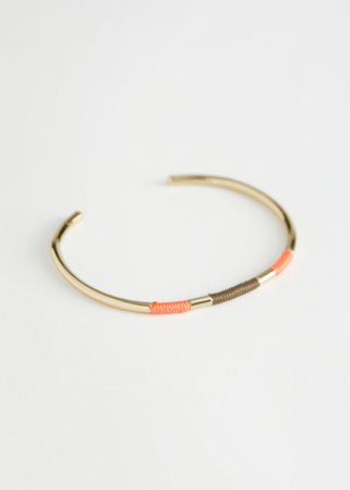 Threaded Cuff Bracelet - Orange - Bracelets - & Other Stories