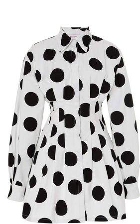 Carolina Herrera Polka-Dot Cotton Dress Size: 0