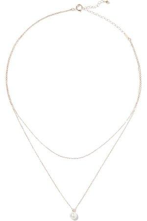 Mizuki | 14-karat gold, freshwater pearl and diamond necklace | NET-A-PORTER.COM