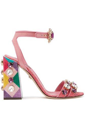 Dolce & Gabbana Stone Embellished Sandals