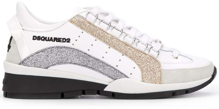 Glitter-Panel Low-Top Trainers