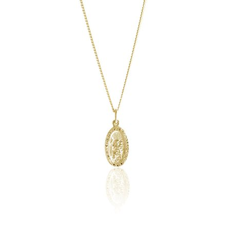 la luna rose st. christopher necklace