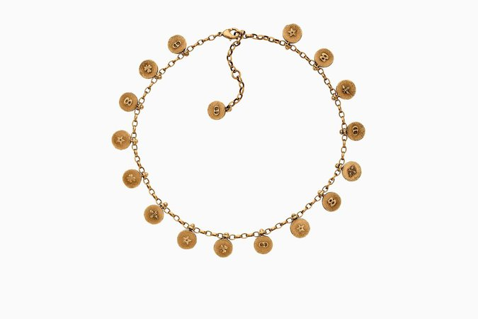 """Choker """"amulettes d'amour"""" en métal vieilli doré - Dior"""