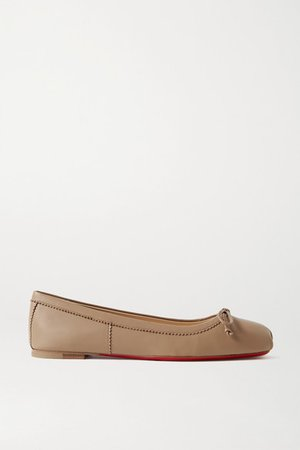 Mamadrague Leather Ballet Flats - Mushroom