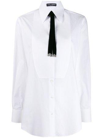 Dolce & Gabbana Camisa Con Lazo En El Cuello - Farfetch