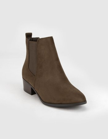 SODA Womens Chocolate Chelsea Boots - CHOCO - 382553402 | Tillys