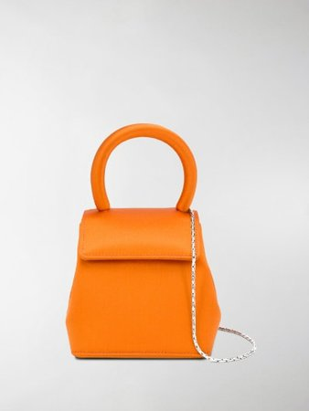 Rubeus Liza micro top-handle satin bag orange | MODES