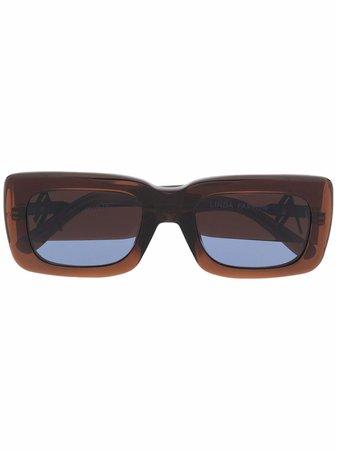 The Attico square-frame Sunglasses - Farfetch