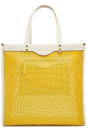 Mesh Shopper with Leather Gr. One Size