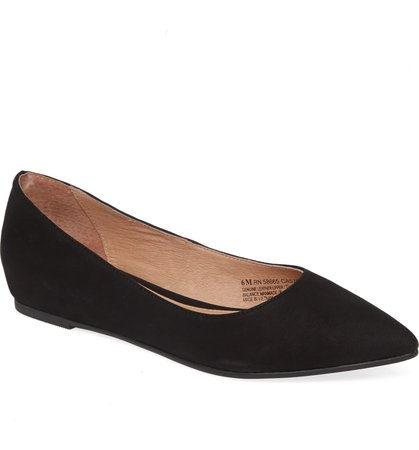 Caslon® Laurel Pointed Toe Water Resistant Flat (Women) | Nordstrom
