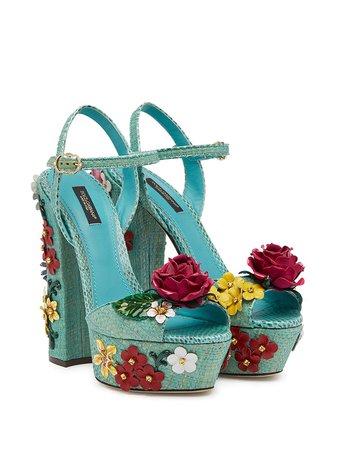 Dolce & Gabbana floral appliqué sandals