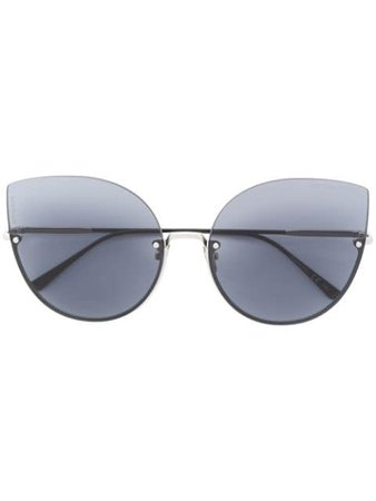 Bottega Veneta Eyewear Intrecciato cat eye sunglasses $359 - Buy AW18 Online - Fast Global Delivery, Price