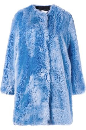 Msgm Faux fur collarless coat