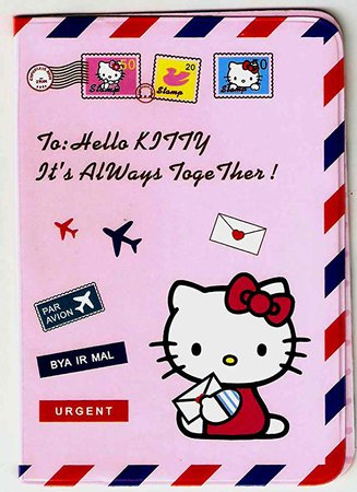 Amazon.com : Hello Kitty Pink Airmail Sanrio Passport Cover Holder : Everything Else