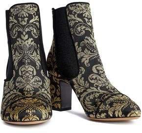 Metallic Jacquard Ankle Boots