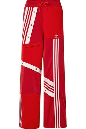 adidas Originals   + Daniëlle Cathari snap-embellished patchwork jersey track pants   NET-A-PORTER.COM