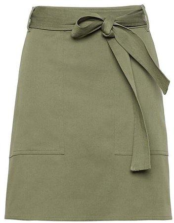 Belted Utility Mini Skirt