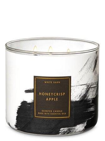 Honeycrisp Apple 3-Wick Candle - White Barn | Bath & Body Works