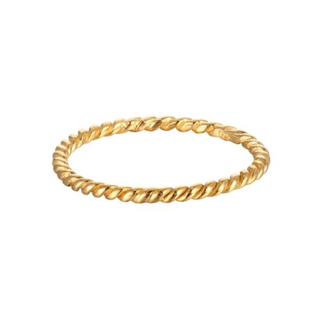 18Ct Gold Vermeil Thin Twisted Rope Ring | SEOL + GOLD | Wolf & Badger