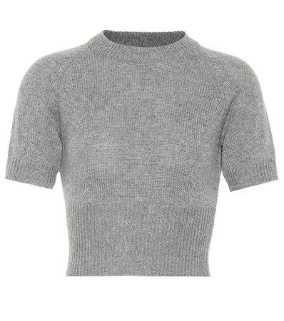 Cropped Cashmere Sweater | Prada - Mytheresa