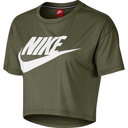 Amazon.com: NIKE Womens Essential Short Sleeve Crop Top T-Shirt: Clothing