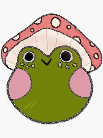 """Mushroom Frog"" Sticker by sunflwrmike7 | Redbubble"