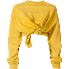 Yellow Knotted shirt