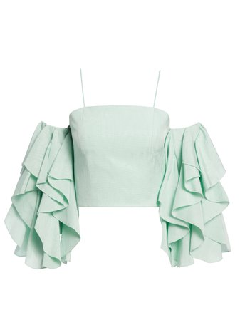 NAKIA COLD SHOULDER CROP TOP | Alice + Olivia