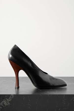 Jade Leather Pumps - Black