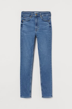 Skinny Ultra High Waist Jeans - Blue