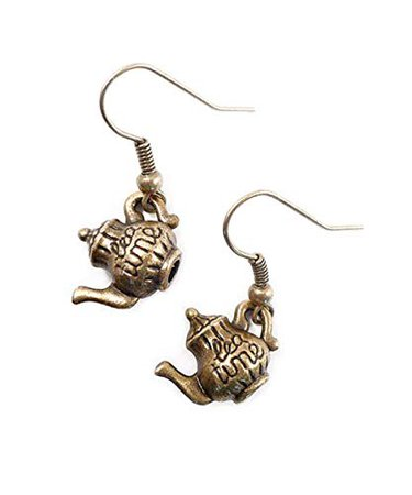 Amazon.com: Joyplancraft Mini Alice in Wonderland Teapot Charm Earrings Vintage British Teatime Dangle Earrings: Jewelry
