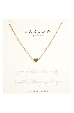 HARLOW by Nashelle Simple Heart Boxed Necklace | Nordstrom