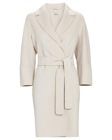 S Max Mara Arona Belted Wool Wrap Coat | INTERMIX®