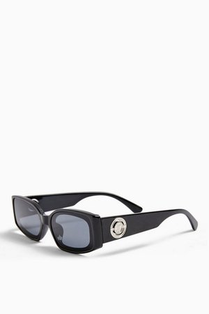 HERA Inlay Rectangle Sunglasses | Topshop