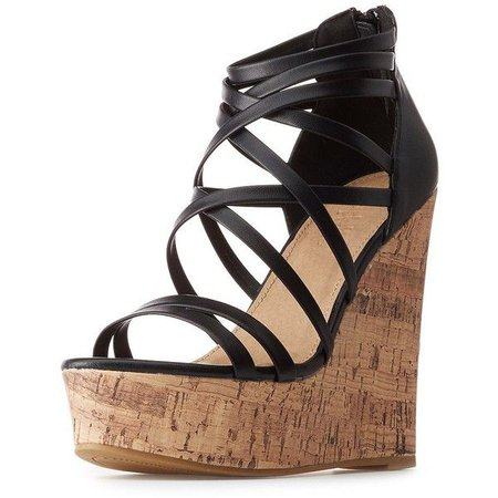 Black Sandal Wedges