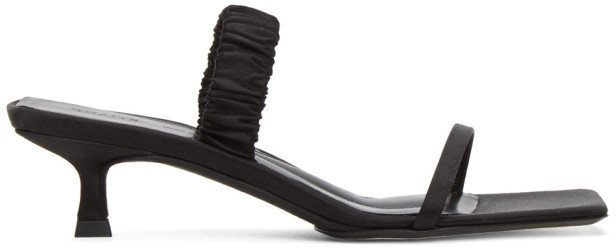 Black Georgia Heeled Sandals