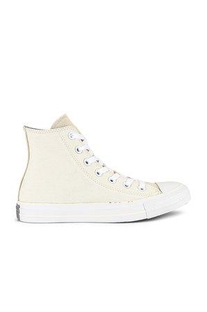 Converse Chuck Taylor All Star Hi Sneaker in Egret & White | REVOLVE