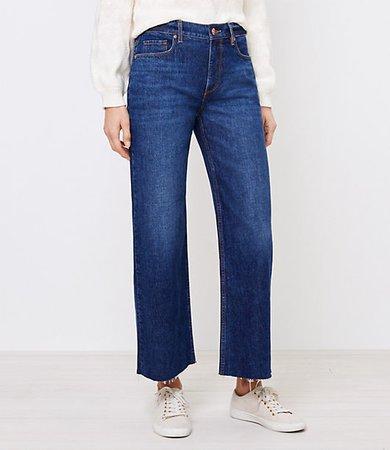 Petite Wide Leg Jeans in Dark Indigo Wash