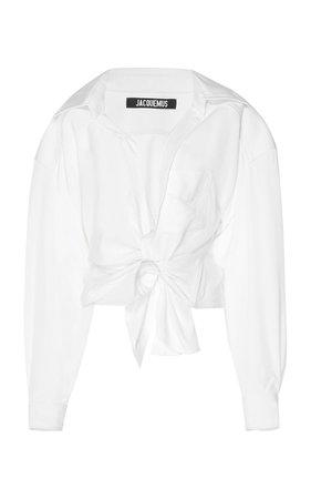 Bahia Oversized Cotton-Blend Top by Jacquemus | Moda Operandi