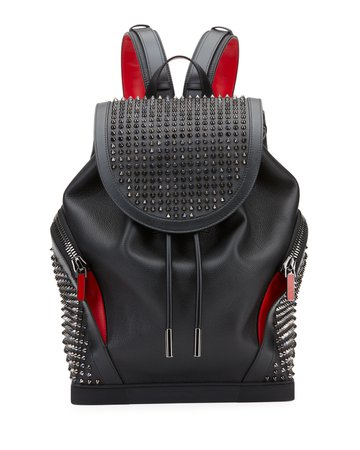 Christian Louboutin Basic Studded Leather Backpack